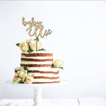 Load image into Gallery viewer, Baby Shower Name Cake Topper
