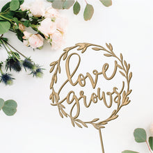 Load image into Gallery viewer, Love Grows Wedding Topper