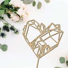 Load image into Gallery viewer, Crystal Gem Heart Cake Topper