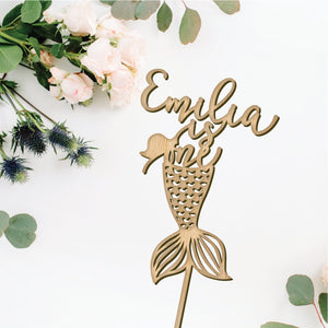 Personalized Mermaid Birthday Cake Topper