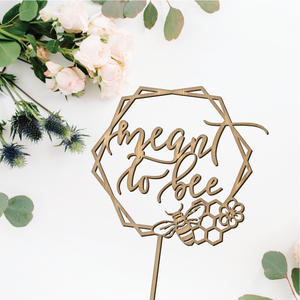 Meant to Bee Geometric Cake Topper