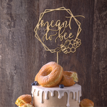 Load image into Gallery viewer, Meant to Bee Geometric Cake Topper