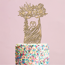 Load image into Gallery viewer, Floral Llama Cake Topper