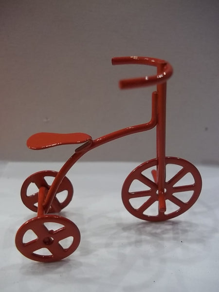 Miniature Red Tricycle Fairy Garden Decor