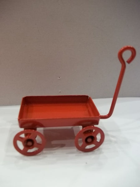 Little Red Wagon Miniature Fairy Garden Decor