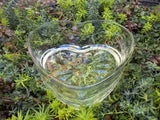 Heart Shaped Glass Container for Terrarium, Mini Garden, Succulents or Candles