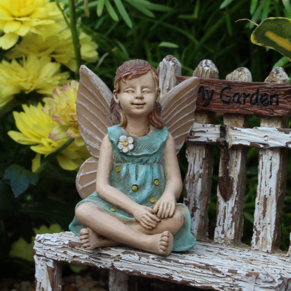 "Fairy ""Shelby"" Fairy Garden Decor Miniature"