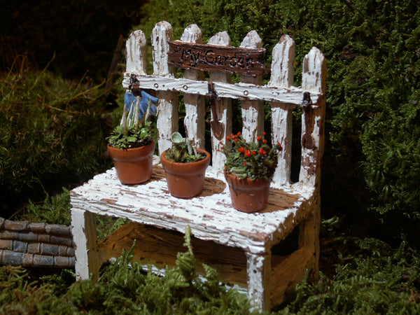 Excellent Picket Fence Potting Bench Rustic Fairy Garden Decor Miniature Ncnpc Chair Design For Home Ncnpcorg