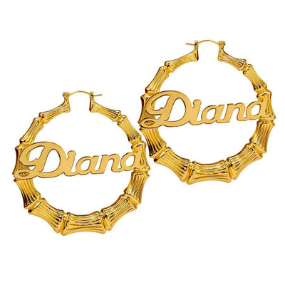 "2"" Bamboo Name Earrings"