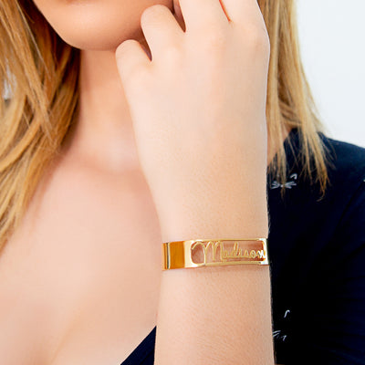 Cutout Script Name Bangle