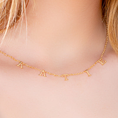 Spaced Letter Name Necklace