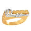 Personalized Name Ring with Beading