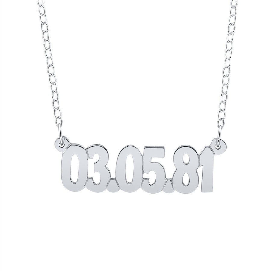 Anniversary Date Necklace