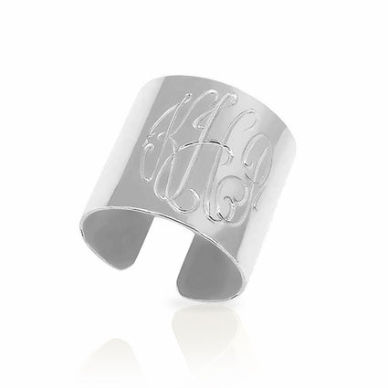 Cuff Ring Monogram Engraving