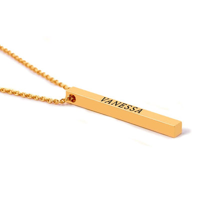 Hanging Name Bar Necklace