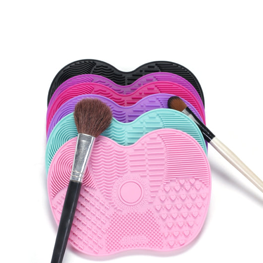 Silicone Makeup Brush Cleaning Mat with Suction Cups