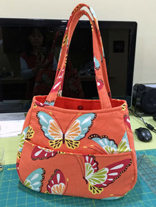 Butterflies cotton shoulder handbags | BL Handmade