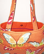 Load image into Gallery viewer, Butterflies cotton shoulder handbags | BL Handmade