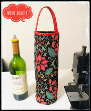 Load image into Gallery viewer, wine holders; bottle holders; quilted bags
