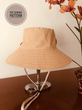 Load image into Gallery viewer, Hat pattern, bucket hat pattern; DIY hat pattern;  wider brim hat; Fashion hat