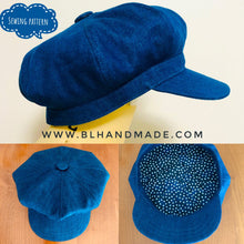 Load image into Gallery viewer, Hat sewing pattern; 8 Angles Beret Hat; Simple Hat pattern