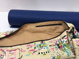 Fashion City Yoga Mat Bag; Yoga Bag; Zipper Yoga Bag; Workout Bag