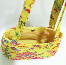 Load image into Gallery viewer, handmade cotton shoulder handbages designed by Swoon Patterns Ethel