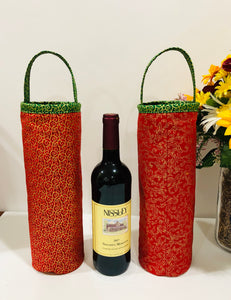 wine holders; bottle holders; quilted bags