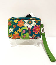 Load image into Gallery viewer, Spring flowers cotton fabric wallets purses; Fabric wallets with card slots & phone pocket