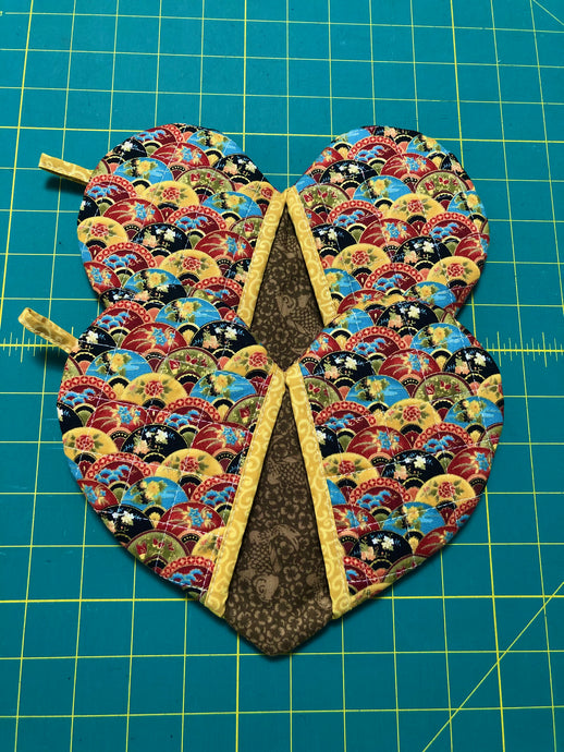Pick any pair of; Quilted potholders; heart-shaped potholders; Oven Mitt; Oven Mittens