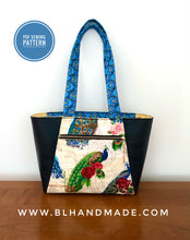 Load image into Gallery viewer, Peacock Tote Bag Sewing Pattern;- Two sizes; Tote Bag Sewing Pattern; Digital PDF sewing pattern for instant download