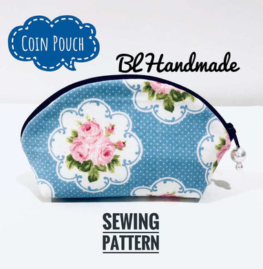 simple sewibg pattern; coin purse pattern; blhandmade pattern
