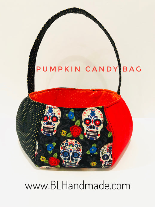 Pumpkin candy bag for decoration; Halloween bags|BL Handmade