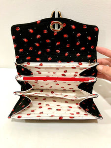 fabric wallets; clutch; purse with card slots; phone purse