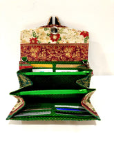 Load image into Gallery viewer, fabric wallets fabric clutch with strap; floral wallets; Christmas gifts