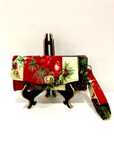 Load image into Gallery viewer, Christmas theme cardinal clutch wallet with 12 card slots | BLHandmade