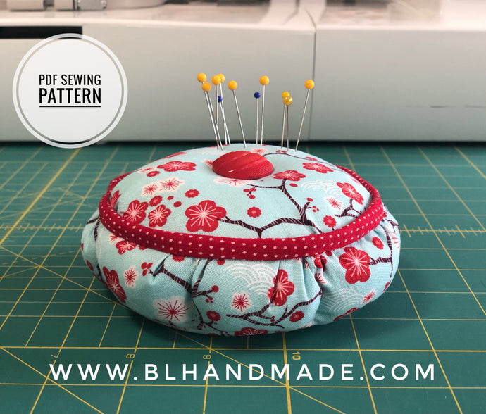 Pincushion With Container Sewing Pattern; PDF Pattern Instant Download