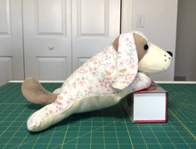 Load image into Gallery viewer, Stuffed Lap Dog Sewing Pattern, Stuffed dog sewing pattern; Dog toy; PDF sewing pattern instant download
