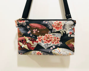 Cotton Crossbody Bags ; Double Zipper shoulder bags |BL Handmade