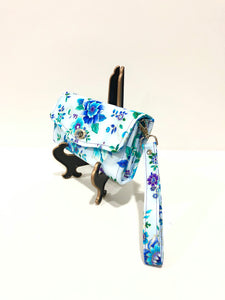 Wallets ; purses; fabric wallet; floral wallet; blue clutch; floral clutch