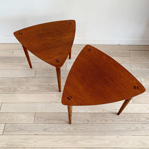 Pair of Mid Century Danish Teak Stacking Side Tables