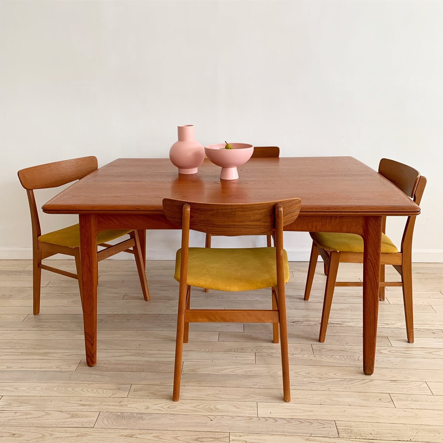 Mid Century Danish Teak Expandable Dining Table By Svend Madsen Home Union Nyc