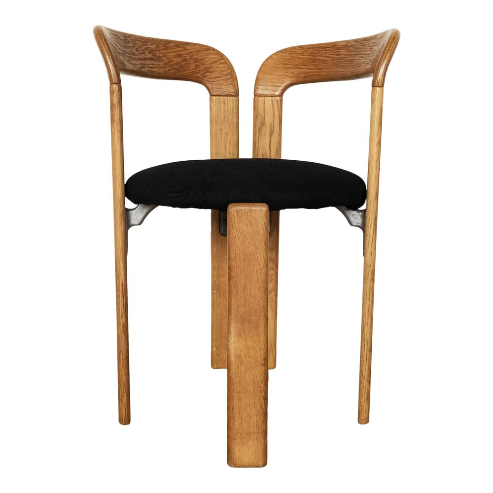 """Rey"" Arm Chair in Tiger Oak by Bruno Rey, 1971 Switzerland"