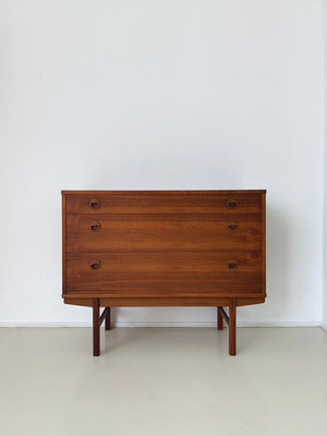 1960s Swedish Walnut Chest by Yngve Ekstrom for Dux