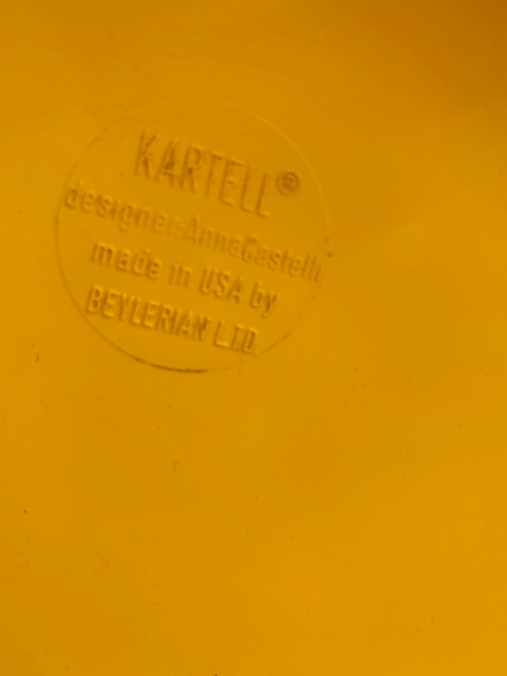 1970s 3-Tier Yellow Componibili Unit by Anna Castelli Ferrieri for Kartell