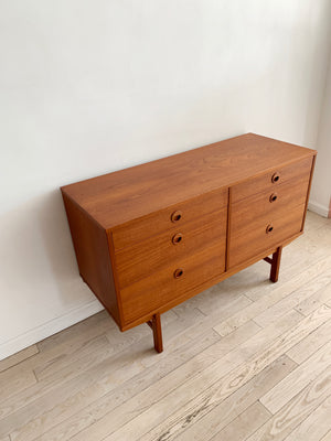 1960s 6-Drawer Teak Credenza By Folke Ohlsson for Dux, Sweden