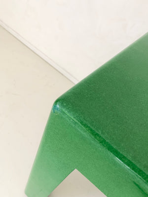 1970s Green Lacquered Table / Bench