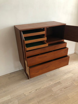 1960s Teak Arne Hovmand Olsen Tall Chest of Drawers