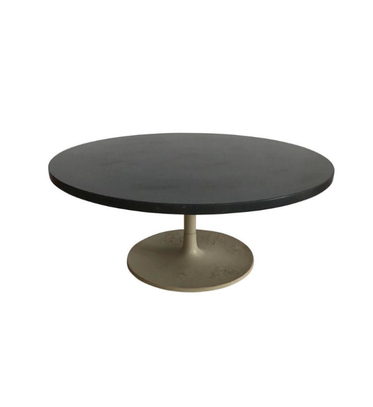 1968 Jens Rison Slate Top Tulip Coffee Table