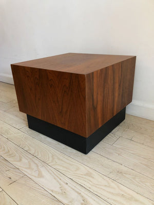 1960s Walnut Adrian Pearsall Floating Cube Table